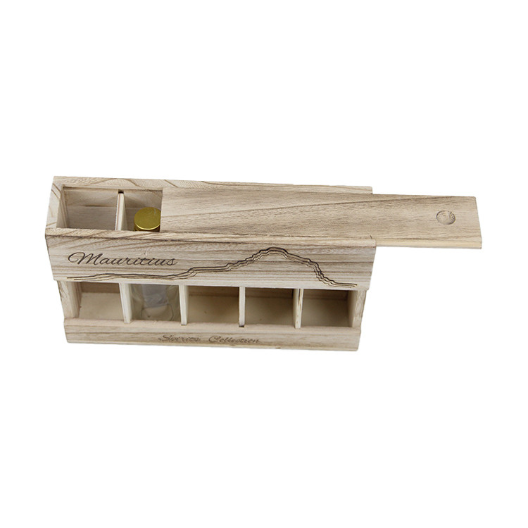 natural wooden storage box for wine