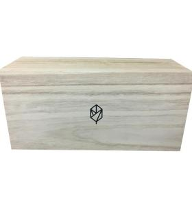 Wood storage box for packing drinking cup/glass