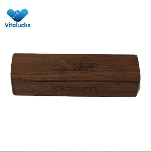 Acacia wooden storage box with magnetic lid natural color