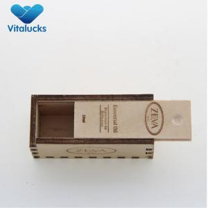 Plywood wooden box with OEM logo slid lid