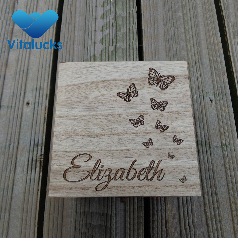 custom logo wooden box