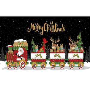 Custom Merry Christmas Flying Or Hanging Colorful Gift Polyester Flag