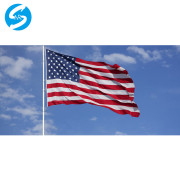Hot sale high quality manufacturer of 3x5ft white sleeve custom flags with two grommets