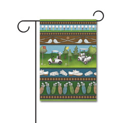 Country Club Collage 110g Knitted Polyester Double Sided Garden Flag Without Flagpole