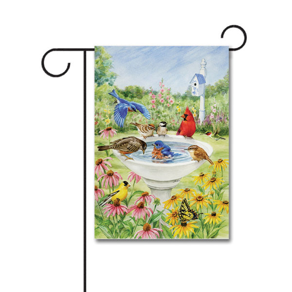 Birdy Dippin' 110g Knitted Polyester Double Sided Garden Flag Without Flagpole