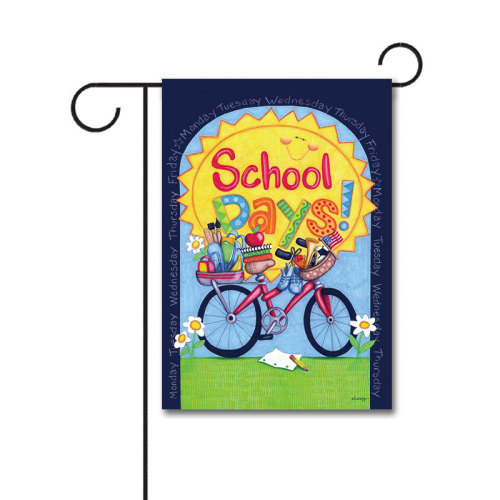 School Days 110g Knitted Polyester Double Sided Garden Flag Without Flagpole