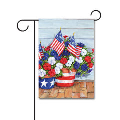 Patriotic Pedals 110g Knitted Polyester Double Sided Garden Flag Without Flagpole
