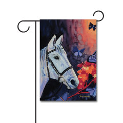 Camarillo White Horse 110g Knitted Polyester Double Sided Garden Flag Without Flagpole
