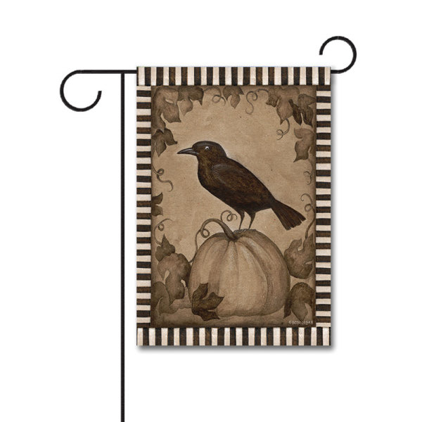 Pumpkin Crow 110g Knitted Polyester Double Sided Garden Flag Without Flagpole