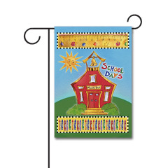School House 110g Knitted Polyester Double Sided Garden Flag Without Flagpole