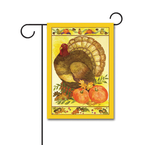 Regal Turkey 110g Knitted Polyester Double Sided Garden Flag Without Flagpole