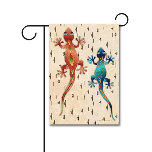 Geckos 110g Knitted Polyester Double Sided Garden Flag Without Flagpole