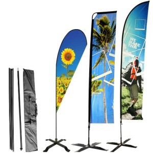 Durable Double Sided Beach Flag Flying Feather Flag Banner