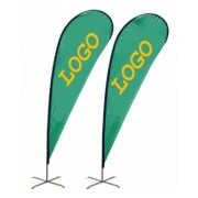 Cheap Custom Double Hot Sale Sided Sublimation Printing Advertising Feather Flags