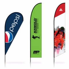 Hot Sale Sided Sublimation Printing Advertising Feather Flags