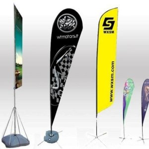Promotional Usage Advertising Exhibition Event Outdoor Feather Flying Beach Flag Banner