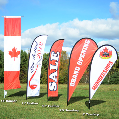 Outdoor Printed Promotional Business Advertising Feather Beach Flag