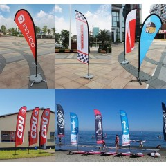 Custom Advertising Feather Flying Teardrop Flag