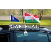 Advertising promotions hot style wholesale car flag with pole