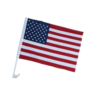 Best sale competitive price customized printed USA American car flags