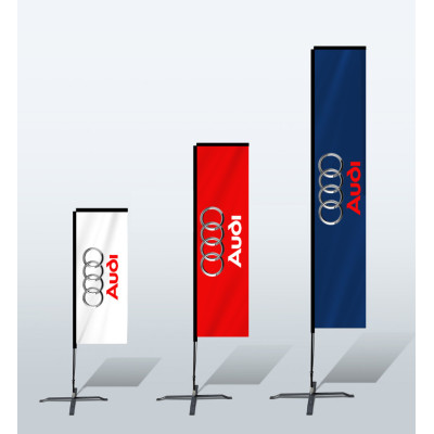Hot Sale Custom Double Printing Advertising Feather Flying Rectangular Flags