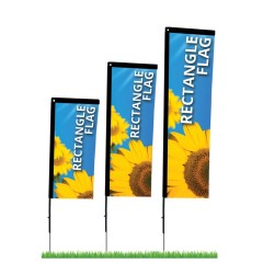 Cheap Custom Double Printing Advertising Feather Rectangular Flags