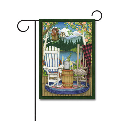 The Back Porch 110g Knitted Polyester Double Sided Garden Flag Without Flagpole