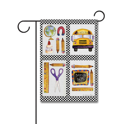 School Stuff 110g Knitted Polyester Double Sided Garden Flag Without Flagpole