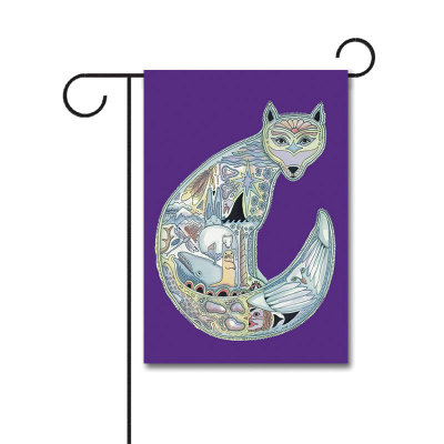 Animal Spirits Wolf 110g Knitted Polyester Double Sided Garden Flag Without Flagpole