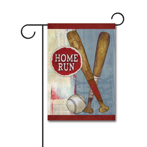 Home Run 110g Knitted Polyester Double Sided Garden Flag Without Flagpole