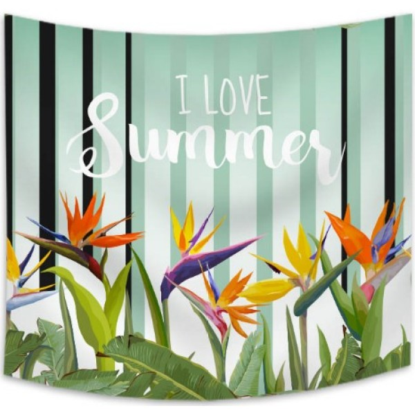 Flamingo Print Tapestry Wall Hanging Tropical Plant Hanging Blanket Wall Tapestry