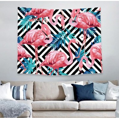 Hot selling wholesale custom flamingo style wall tapestry