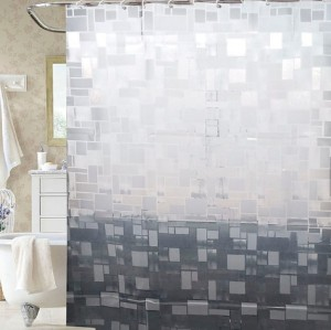 Competitive price new design bathroom EVA shower curtain with high quality
