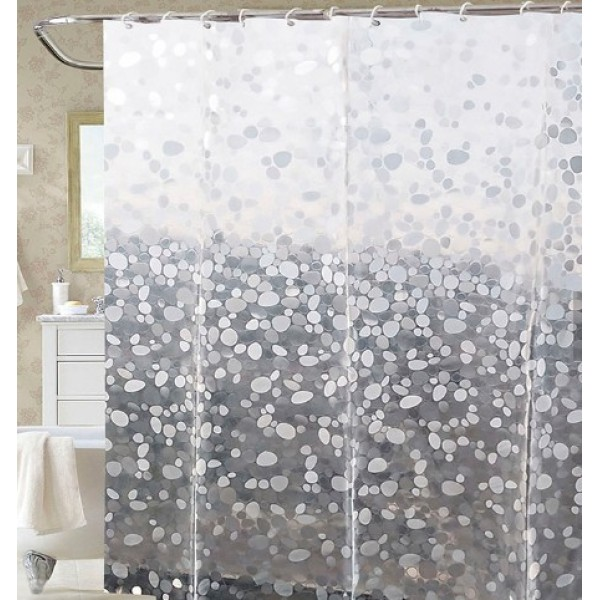 Factory direct price new design bathroom EVA shower curtain with high quality