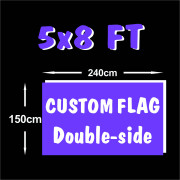 Big Size Fast Delivery 5x8ft Custom flags Banner Digital Printing