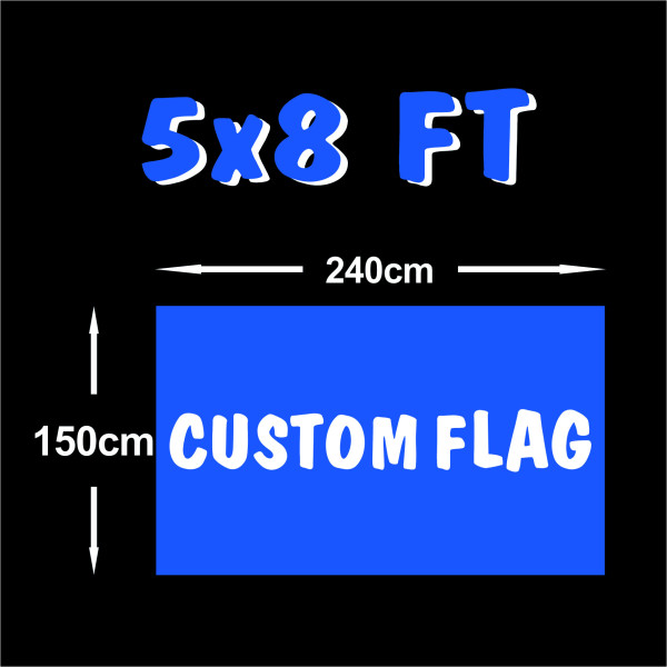 Double-sided Strong Fast Delivery 5x8ft Custom flags Banner
