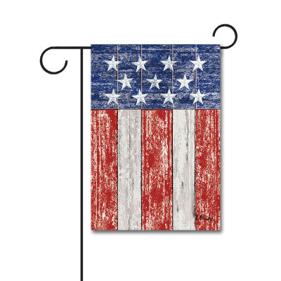 Rustic Patriotic 110g Knitted Polyester Double Sided Garden Flag Without Flagpole