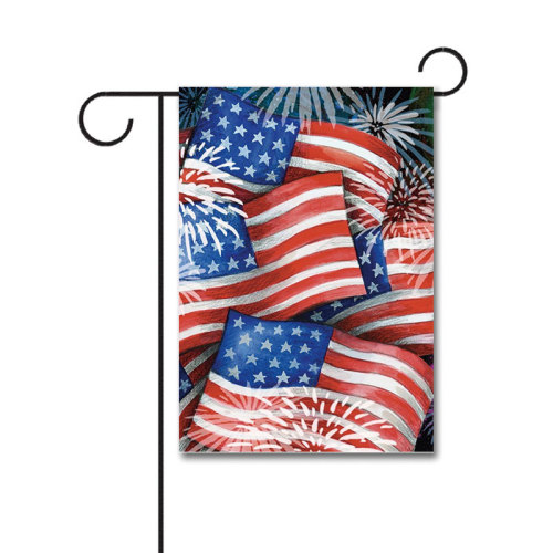 Sparkling Old Glory 110g Knitted Polyester Double Sided Garden Flag Without Flagpole