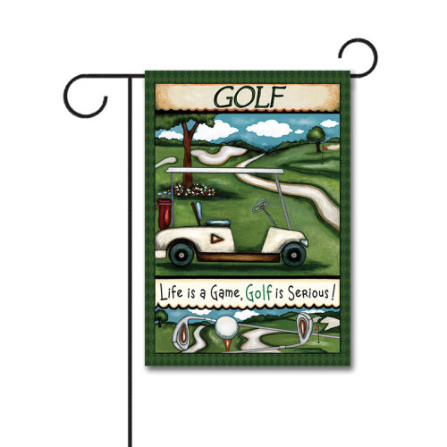 Going Golfing 110g Knitted Polyester Double Sided Garden Flag Without Flagpole