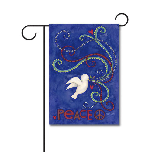 Peace Dove 110g Knitted Polyester Double Sided Garden Flag Without Flagpole
