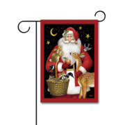 Santa's Friends 110g Knitted Polyester Double Sided Garden Flag Without Flagpole
