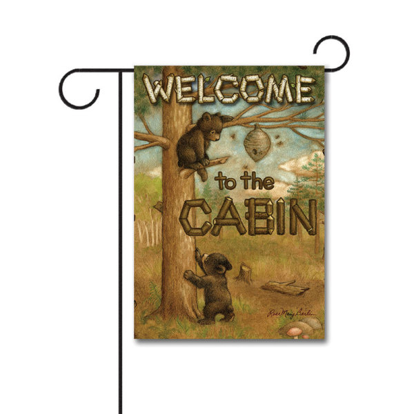 Cub Cabin Bunting 110g Knitted Polyester Double Sided Garden Flag Without Flagpole