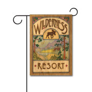 Wilderness Resort 110g Knitted Polyester Double Sided Garden Flag Without Flagpole