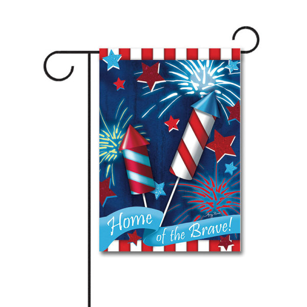 Home of The Brave 110g Knitted Polyester Double Sided Garden Flag Without Flagpole