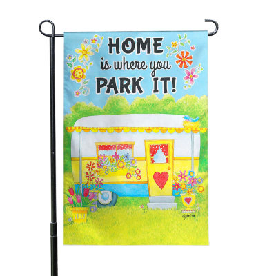Home Is Where You Park It 110g Knitted Polyester Double Sided Garden Flag Without Flagpole