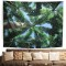 Virgin Forest Tapestry Green Tree in Misty Forest Tapestry Wall Hanging Nature Scenery Wall Tapestry Decor for Room and drop shipping