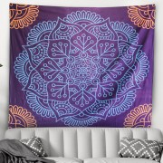Wall Tapestry Blue Multi Tapestry Wall Hanging Mandala Tapestries Indian Cotton Bedspread Picnic Bed Sheet Blanket Wall Art Hippie Tapestry for drop shipping