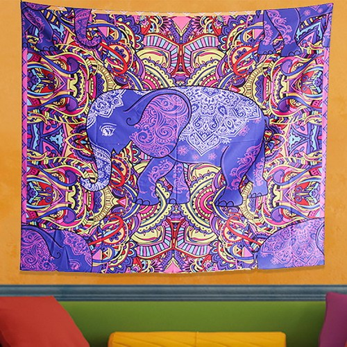 Elephant Tapestry - Elephant Tapestry Flower Psychedelic Tapestry Indian Bohemian Tapestries Colorful Hippie Hippy Wall Hanging for Room and drop shipping