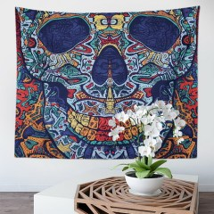 Skull Gothic Tapestry Hippy Wall Hanging Skeletons Colorful Wall Tapestry Bohemian Mysterious Abstract Wall Decor for Bedroom and drop shipping
