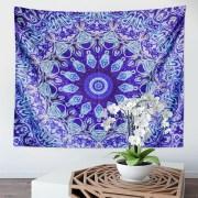 Tapestry Bohemian Tapestry for Bedroom Boho Indie Hippie Tapestries Aesthetic Vintage Wall Tapestry for Women Men Teenage Girl, Blue Tapestry